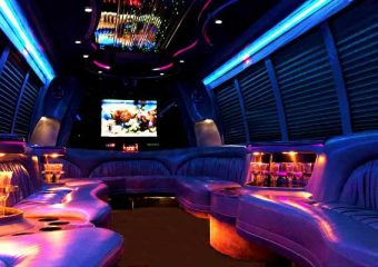 18 passenger Plano party bus rentals