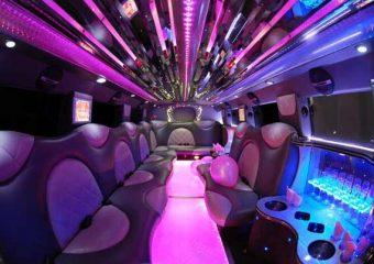 Cadillac Escalade limo interior Plano