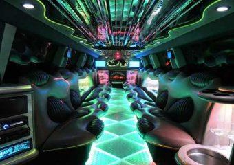 Hummer limo interior Plano