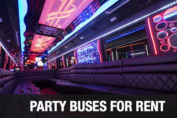 airport transportation party bus plano