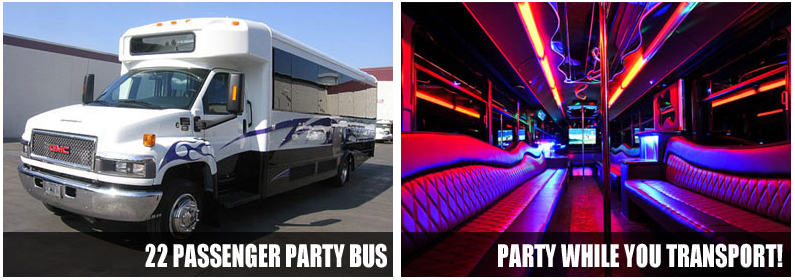 airport transportation party bus rentals plano