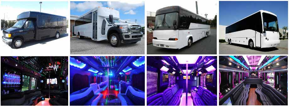 airport transportation party buses plano